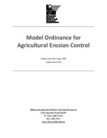 Model Ordinance for Agricultural Erosion Control