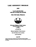 Lake Assessment Program 1997 - Lake Six with notes on Scalp Lake, Otter Tail County, Minnesota