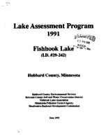 Lake Assessment Program - Fish Hook Lake, Hubbard County