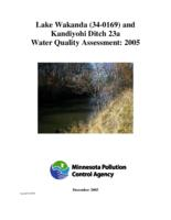 Lake Assessment Program - Lake Wakanda and Kandiyohi Ditch23a , Kandiyohi County