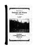 Gazetteer of Meandered Lakes of Minnesota