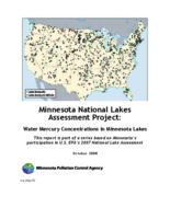 Minnesota National Lakes Assessment Project: Water Mercury Concentrations in Minnesota Lakes