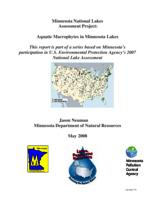 Minnesota National Lakes Assessment Project: Aquatic Macrophytes in Minnesota Lakes