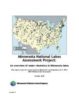 Minnesota National Lakes Assessment Project: An overview of water chemistry in Minnesota lakes