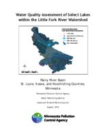 Water Quality Assessment of Select Lakes within the Little Fork River Watershed