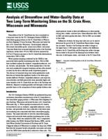 Analysis of Streamflow and Water-Quality Data at Two Long-Term Monitoring Sites on the St. Croix River, Wisconsin and Minnesota