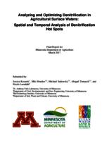 Analyzing and Optimizing Denitrification in Agricultural Surface Waters - Spatial and Temporal Analysis of Denitrification Hot Spots