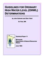 Guidelines For Ordinary High Water Level (OHWL) Determinations