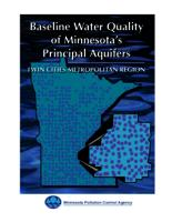 Baseline Water Quality of Minnesota's Principal Aquifers: Twin Cities Metropolitan Region