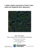 A Water Quality Assessment of Select Lakes within the Kawishiwi River Watershed
