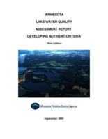 Minnesota Lake Water Quality Assessment Report: Developing Nutrient Criteria