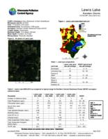 Lewis Lake Kanabec County 2010CLMP+ Data Summary