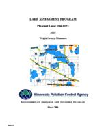 Lake Assessment Program - Pleasant Lake, Wright County, Minnesota