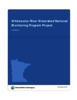 Whitewater River Watershed National Monitoring Program Project: Final Report