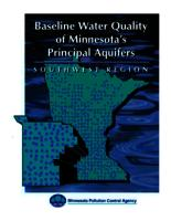 Baseline Water Quality of Minnesota's Principal Aquifers: Southwest Region