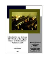 Microhabitat and Instream Flow Needs of the Topeka Shiner in the Rock River Watershed, MN