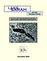 Lake Sarah (Hennepin County) Outlet Investigation