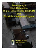 A White Paper on Developing a High-Resolution Digital Elevation Model (DEM) and Floodplain Mapping Program
