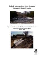 Duluth Metropolitan Area Streams Snowmelt Runoff Study