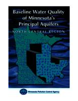 Baseline Water Quality of Minnesota's Principal Aquifers: North Central Region