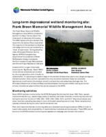 Long-term depressional wetland monitoring site: Frank Breen Memorial Wildlife Management Area
