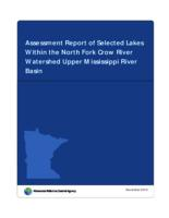Assessment Report of Selected Lakes Within the North Fork Crow River Watershed Upper Mississippi River Basin