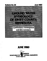 Ground Water Hydrology of Swift County, Minnesota