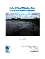 Krohn Wetland Mitigation Bank 2014 Annual Monitoring Report