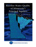 Baseline Water Quality of Minnesota's Principal Aquifer: Northeast Region