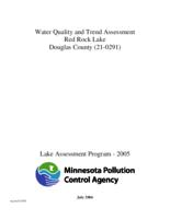 Water Quality and Trend Assessment - Red Rock Lake, Douglas County