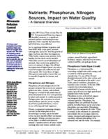 Nutrients: Phosphorus, Nitrogen Sources, Impact on Water Quality - A General Overview