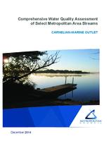 Comprehensive Water Quality Assessment of Select Metropolitan Area Streams CARNELIAN-MARINE OUTLET
