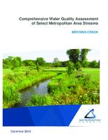Comprehensive Water Quality Assessment of Select Metropolitan Area Streams BROWNS CREEK