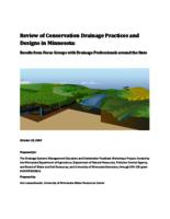 Review of Conservation Drainage Practices and Designs in Minnesota: Results from Focus Groups with Drainage Professionals around the State