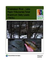 Mississippi River - Lake Pepin Tributaries Total Maximum Daily Loads (TMDL)