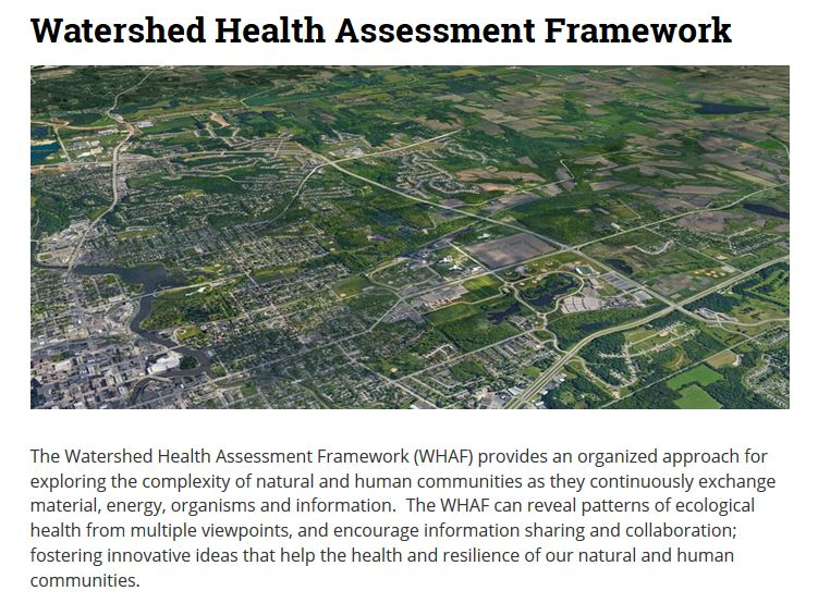 Watershed Health Assessment Framework