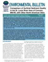 Comparison of Surficial Sediment Quality in the St. Louis River Area of Concern, MN/WI, with Other North American Sites
