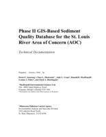 Phase II GIS-Based Sediment Quality Database for the St. Louis River Area of Concern (AOC) - Technical Documentation