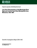 Low-Flow Characteristics of the Mississippi River Upstream from the Twin Cities Metropolitan Area, Minnesota, 1932–2007