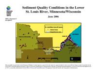 Sediment Quality Conditions in the Lower St. Louis River, Minnesota/Wisconsin