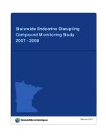 Statewide Endocrine Disrupting Compound Monitoring Study 2007 - 2008