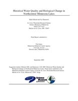 Historical Water Quality and Biological Change in Northcentral Minnesota Lakes