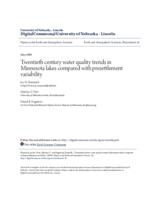Twentieth century water quality trends in Minnesota lakes compared with presettlement variability