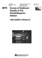 Survey of Sediment Quality in the Duluth/Superior Harbor: 1993 Sample Results