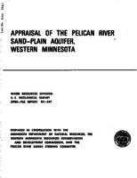 Appraisal of The Pelican River Sand-Plain Aquifer, Western Minnesota