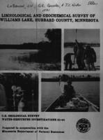 Limnological and Geochemical Survey of Williams Lake, Hubbard County, Minnesota