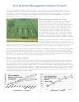 2012 Nutrient Management Initiative Results