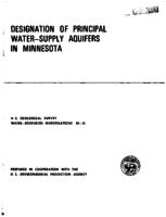 Designation of Principal Water-Supply Aquifers in Minnesota