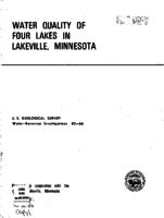 Water Quality of Four Lakes in Lakeville, Minnesota