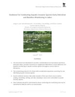 Guidance for Conducting Aquatic Invasive Species Early Detection and Baseline Monitoring in Lakes